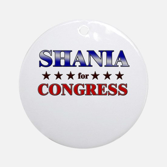 SHANIA for congress Ornament (Round)