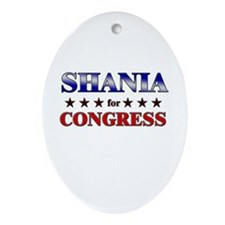 SHANIA for congress Oval Ornament