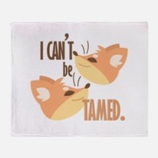 Cant Be Tamed Throw Blanket