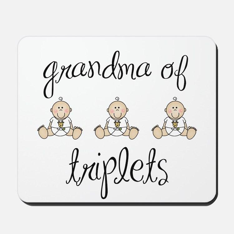Grandma of Triplets Babies Mousepad
