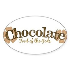 Chocolate Oval Decal