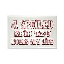 Spoiled Shih Tzu Rectangle Magnet (100 pack)
