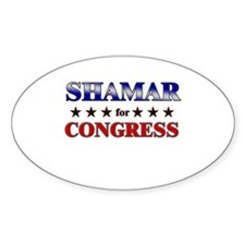 SHAMAR for congress Oval Decal