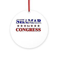 SHAMAR for congress Ornament (Round)