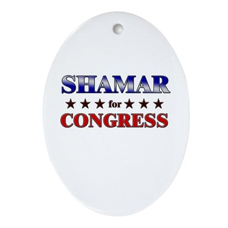 SHAMAR for congress Oval Ornament