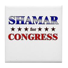 SHAMAR for congress Tile Coaster