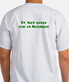 Drinking green beer doesn't m Ash Grey T-Shirt