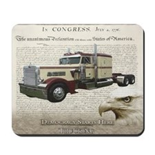 Democracy Starts Here Truckin Mousepad