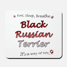 Black Russian Breathe Mousepad