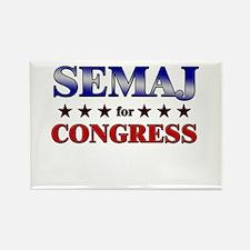 SEMAJ for congress Rectangle Magnet