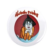 "Absinthe Drinkers 3.5"" Button"