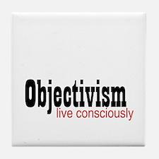 Objectivist Living Tile Coaster