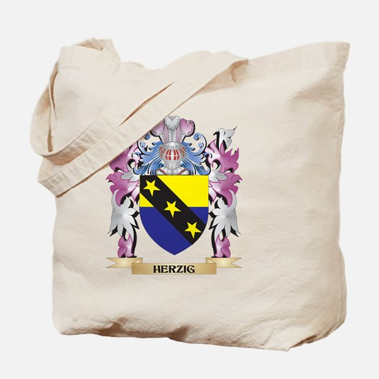 Herzig Coat of Arms (Family Crest) Tote Bag