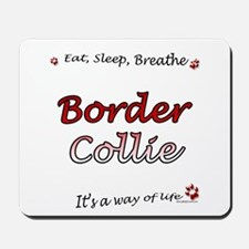 Border Collie Breathe Mousepad