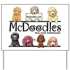 Goldendoodle McDoodles Yard Sign