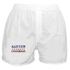SAWYER for congress Boxer Shorts