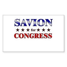 SAVION for congress Rectangle Decal