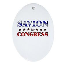 SAVION for congress Oval Ornament