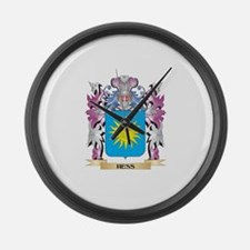 Hess Coat of Arms (Family Crest) Large Wall Clock