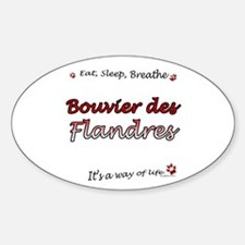 Bouvier Breathe Oval Decal