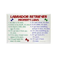 Labrador Retriever Property Laws 2 Rectangle Magne