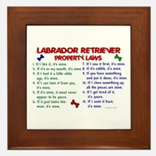 Labrador Retriever Property Laws 2 Framed Tile