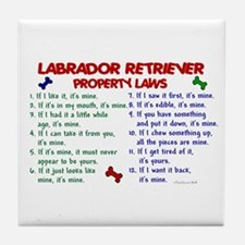 Labrador Retriever Property Laws 2 Tile Coaster