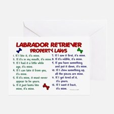 Labrador Retriever Property Laws 2 Greeting Card