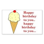HAPPY BIRTHDAY (ICE CREAM) Rectangle Sticker
