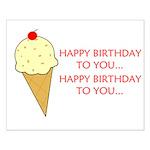 HAPPY BIRTHDAY (ICE CREAM) Small Poster