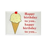 HAPPY BIRTHDAY (ICE CREAM) Rectangle Magnet (10 pa