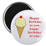HAPPY BIRTHDAY (ICE CREAM) Magnet