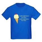 HAPPY BIRTHDAY (ICE CREAM) Kids Dark T-Shirt