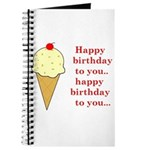 HAPPY BIRTHDAY (ICE CREAM) Journal