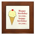 HAPPY BIRTHDAY (ICE CREAM) Framed Tile