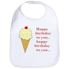 HAPPY BIRTHDAY (ICE CREAM) Bib