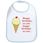 HAPPY BIRTHDAY (ICE CREAM) Bib