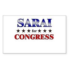 SARAI for congress Rectangle Decal