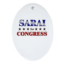 SARAI for congress Oval Ornament