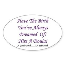 Birth Doula Advocacy Oval Decal