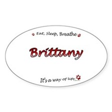 Brittany Breathe Oval Decal