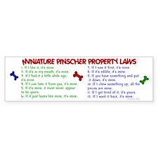 Miniature Pinscher Property Laws 2 Bumper Bumper Sticker
