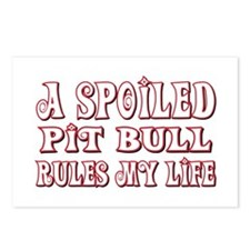 Spoiled Pit Bull Postcards (Package of 8)