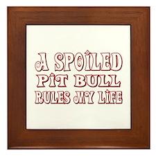 Spoiled Pit Bull Framed Tile