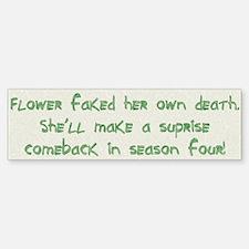 Flower - Bumper Bumper Bumper Sticker