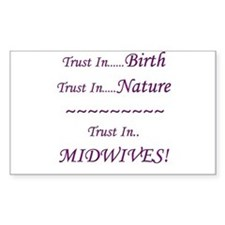 Midwife Advocacy Rectangle Decal
