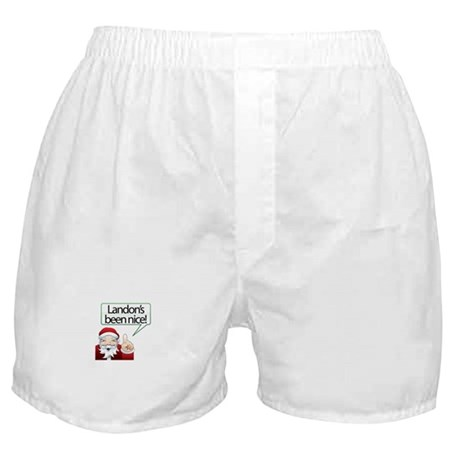Landon's Been Nice Boxer Shorts