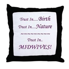 Midwife Advocacy Throw Pillow