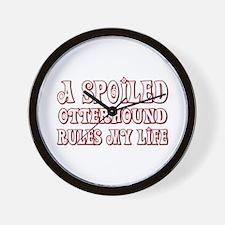 Spoiled Otterhound Wall Clock