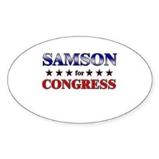 SAMSON for congress Oval Decal